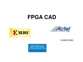 FPGA CAD