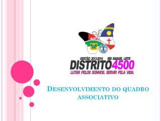 Desenvolvimento do quadro associativo