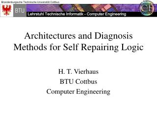 Architectures and Diagnosis Methods for Self Repairing Logic