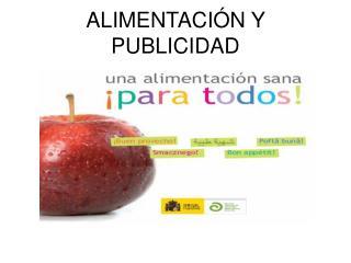 ALIMENTACIÓN Y PUBLICIDAD