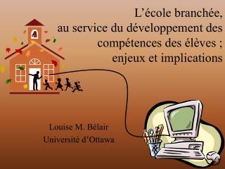 L'école branchée, au service du développement des compétences des élèves ; enjeux et implications