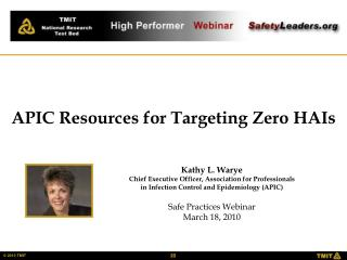 Kathy L. Warye Chief Executive Officer, Association for Professionals
