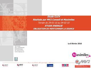 MV2 Conseil 89 av. Aristide Briand 92120 Montrouge Tel : 01 46 73 31 31 mv2group