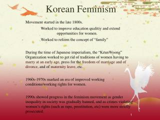 Korean Feminism
