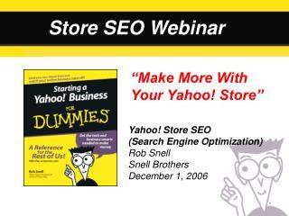 Store SEO Webinar