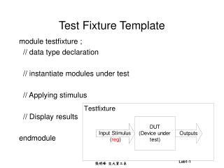 Test Fixture Template