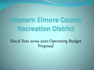 Western Elmore County Recreation District