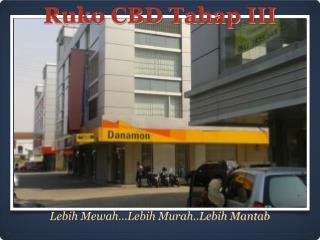 Ruko CBD Tahap III