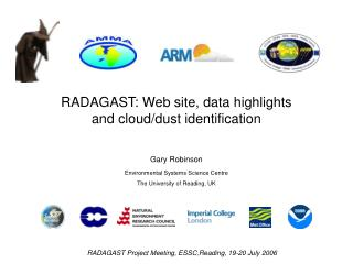 RADAGAST: Web site, data highlights and cloud/dust identification