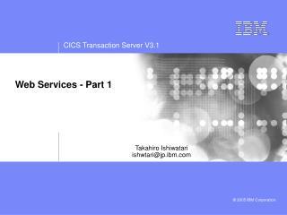 Web Services - Part 1