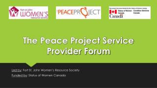 The Peace Project Service Provider Forum