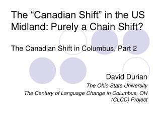 David Durian The Ohio State University