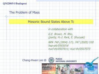Mesonic Bound States Above Tc