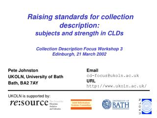 Pete Johnston UKOLN, University of Bath Bath, BA2 7AY