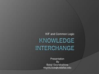 Knowledge interchange