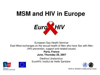 MSM and HIV in Europe