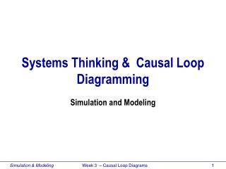 Systems Thinking &  Causal Loop Diagramming