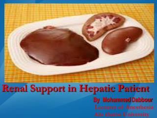 Renal Support in Hepatic Patient