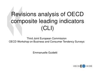 Revisions analysis of OECD composite leading indicators (CLI)
