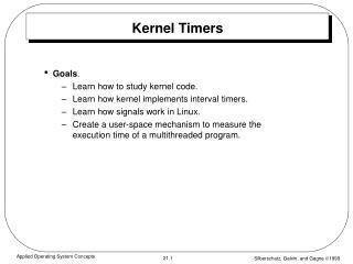 Kernel Timers