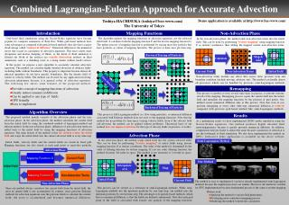 Combined Lagrangian-Eulerian Approach for Accurate Advection