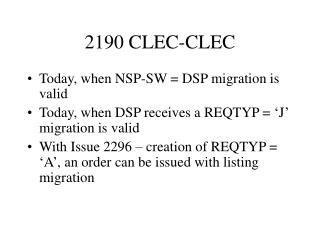 2190 CLEC-CLEC