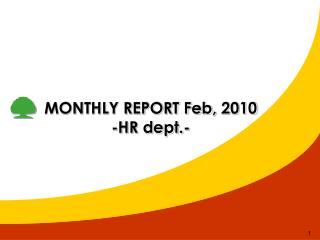 MONTHLY REPORT Feb,  2010 -HR dept.-