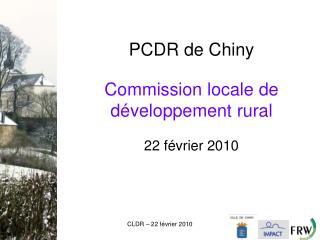 Commission locale de d�veloppement rural