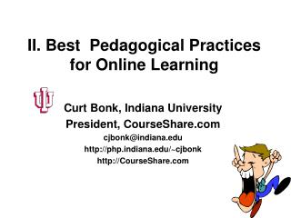 II. Best  Pedagogical Practices for Online Learning