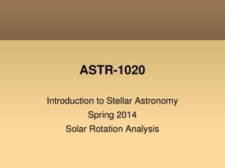 ASTR-1020
