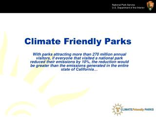Climate Friendly Parks