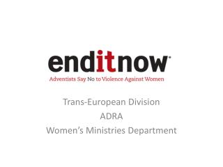 Trans-European Division ADRA Women's Ministries Department