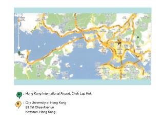 :  Hong Kong International Airport, Chek Lap Kok :  City University of Hong Kong
