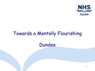 Towards a Mentally Flourishing  Dundee