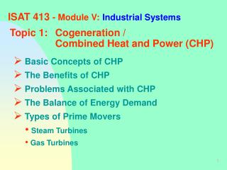 ISAT 413  - Module V: Industrial Systems
