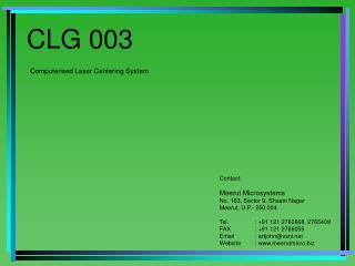 CLG 003