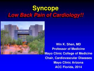 Syncope Low Back Pain of Cardiology!!