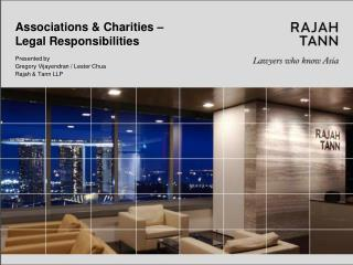 Associations & Charities –  Legal Responsibilities
