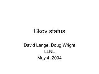 Ckov status