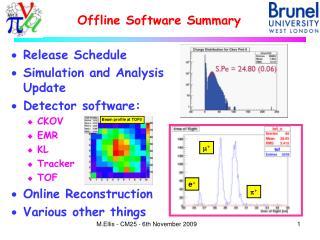 Offline Software Summary