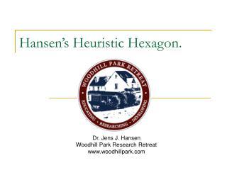 Hansen s Heuristic Hexagon.