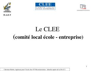 Le CLEE ( comit� local �cole - entreprise)
