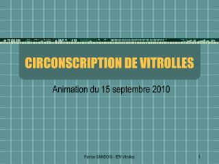 CIRCONSCRIPTION DE VITROLLES
