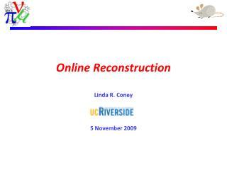 Online Reconstruction