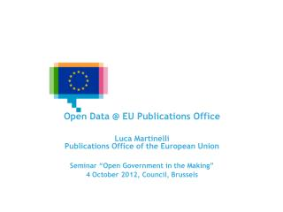 EU Open Data Portals and Infrastructures