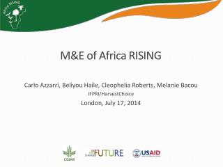 M&E of Africa RISING