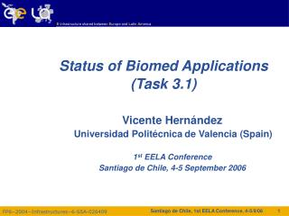 Status of Biomed Applications (Task 3.1)