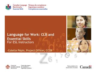 Language  for Work: CLB and Essential Skills