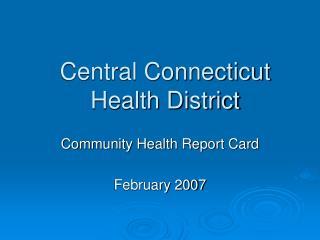 Central Connecticut Health District