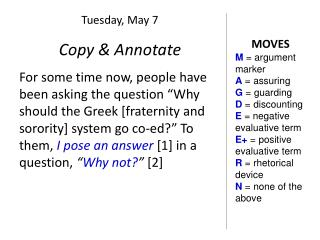 Copy & Annotate